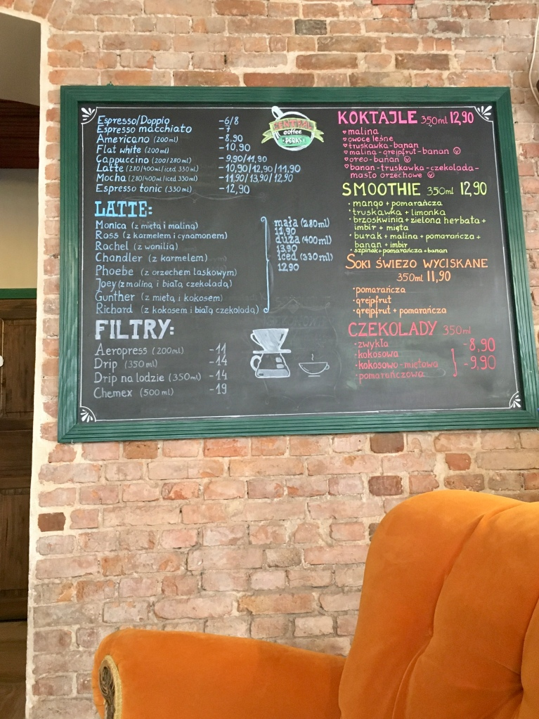 "Central perk ""friends"" café in Torun"
