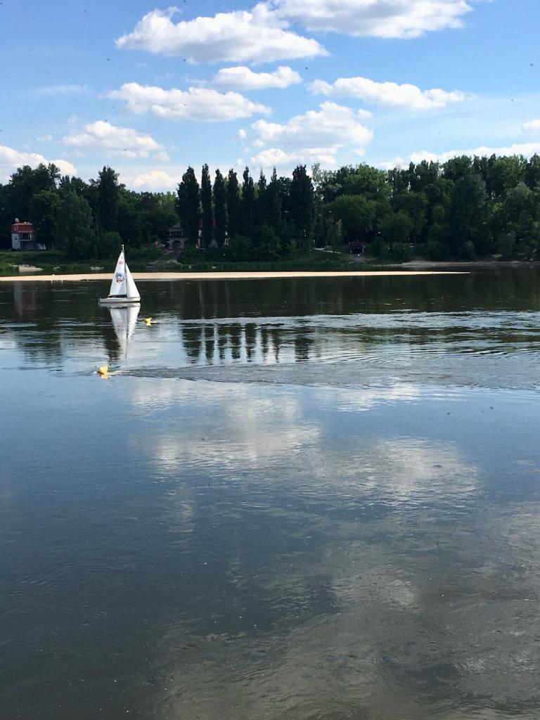 Vistula River beach in torun